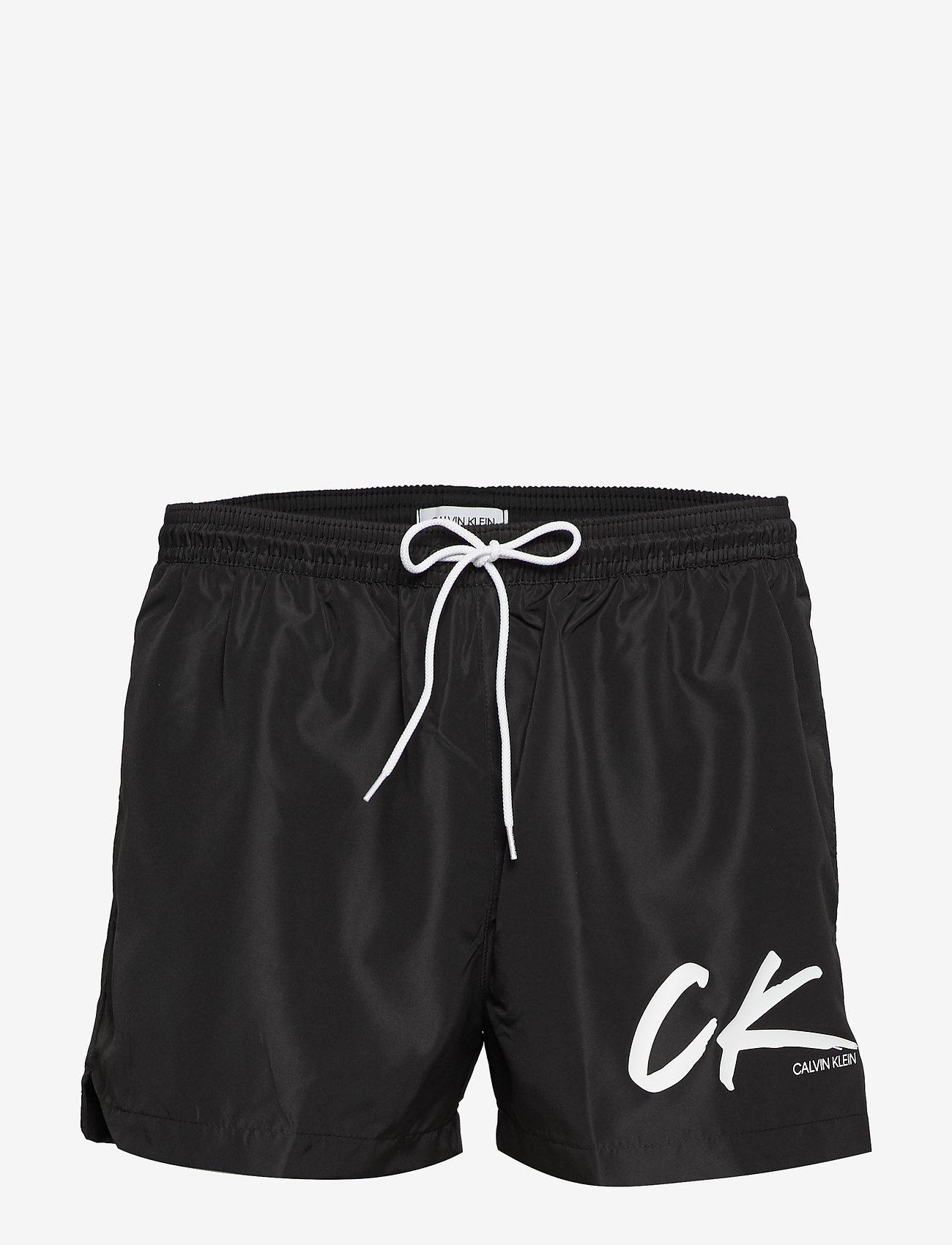 Calvin Klein - SHORT DRAWSTRING - badehosen - pvh black - 0