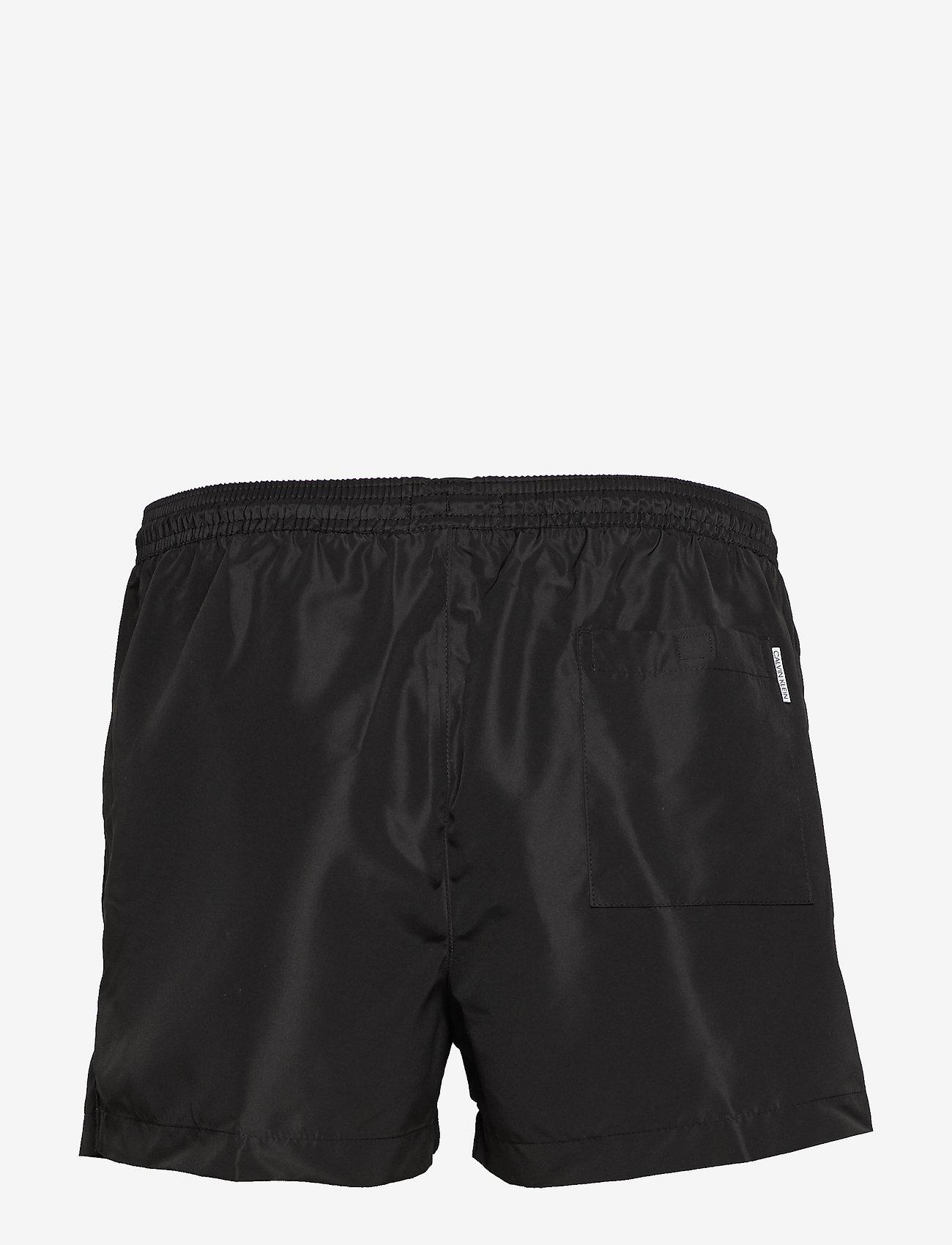 Calvin Klein - SHORT DRAWSTRING - badehosen - pvh black - 1