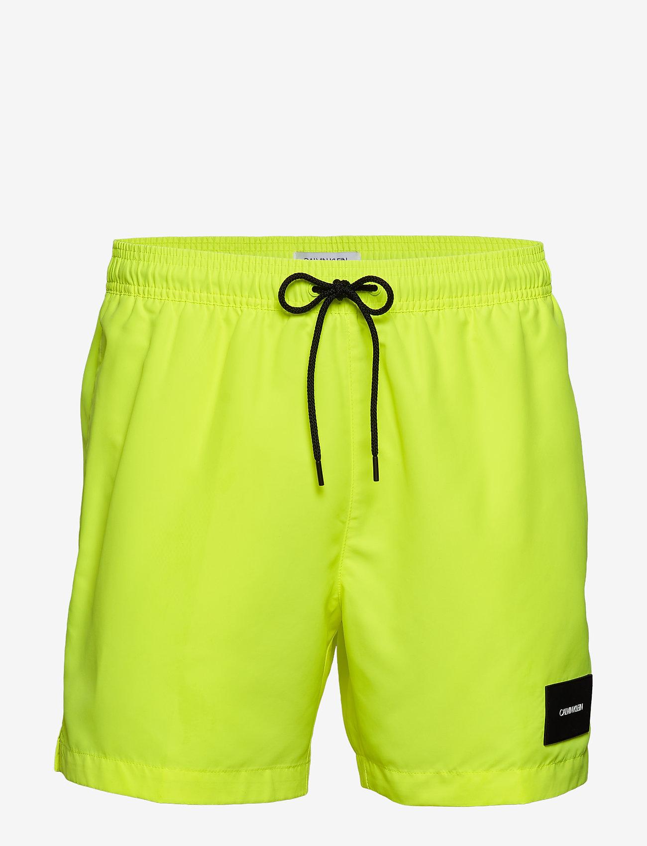 Calvin Klein - MEDIUM DRAWSTRING - badehosen - safety yellow - 0
