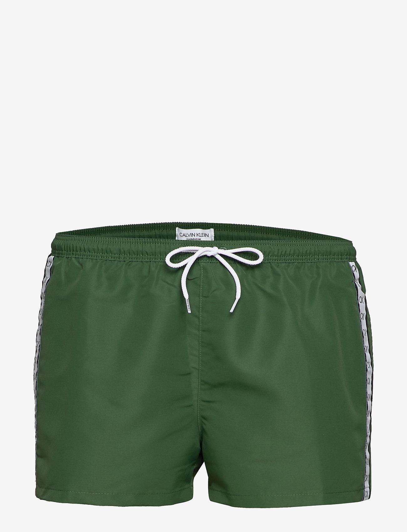 Calvin Klein - SHORT DRAWSTRING - badehosen - dark green - 0