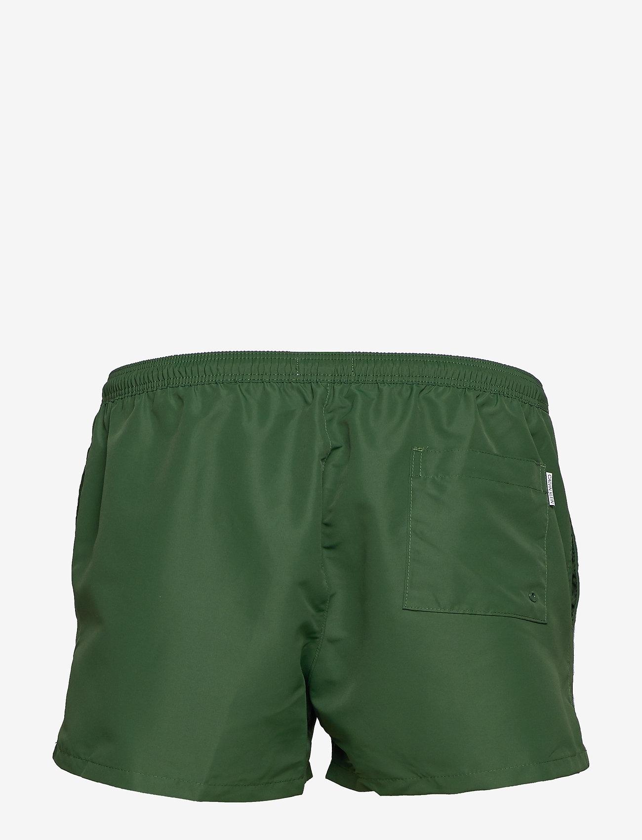 Calvin Klein - SHORT DRAWSTRING - badehosen - dark green - 1