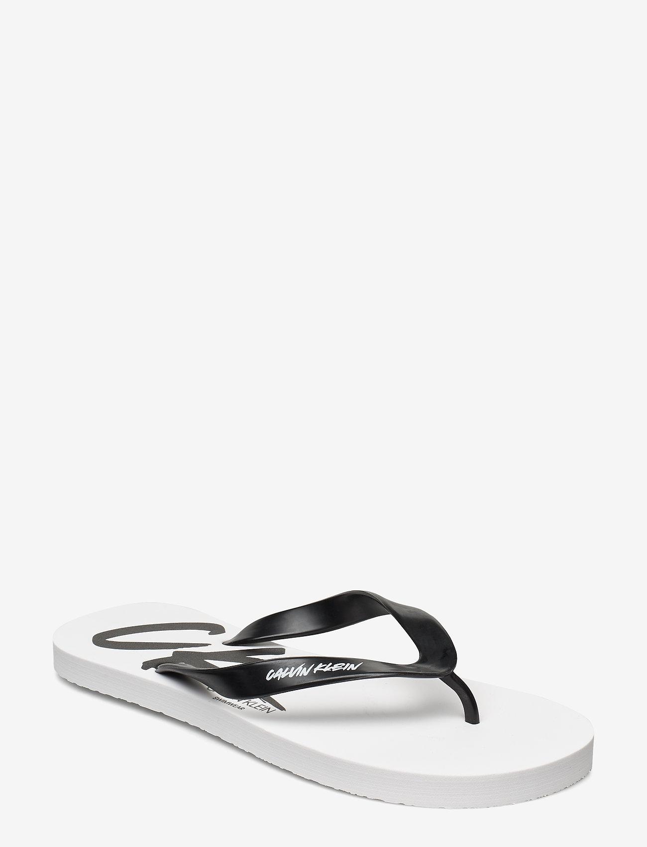 Calvin Klein - FF SANDALS - teen slippers - pvh classic white - 0