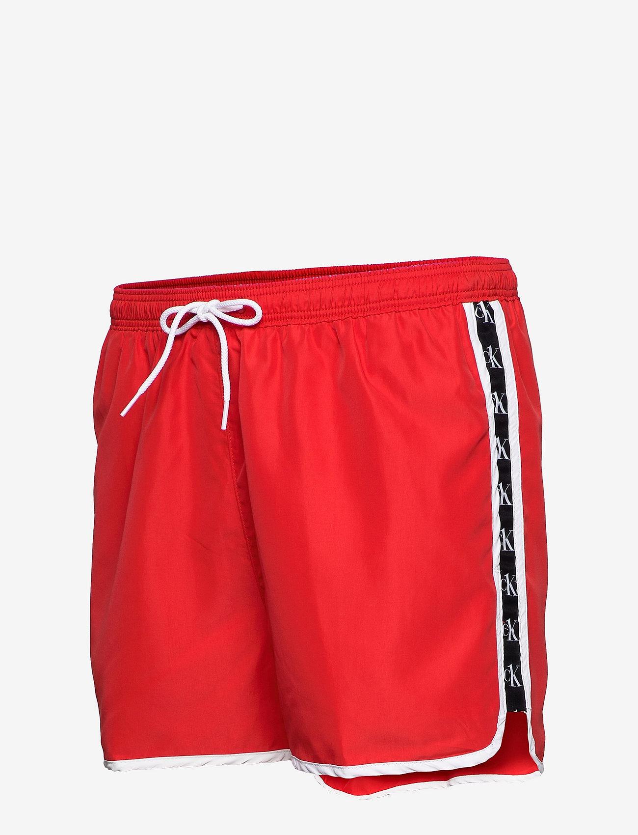 Calvin Klein - SHORT RUNNER - shorts de bain - fierce red - 2