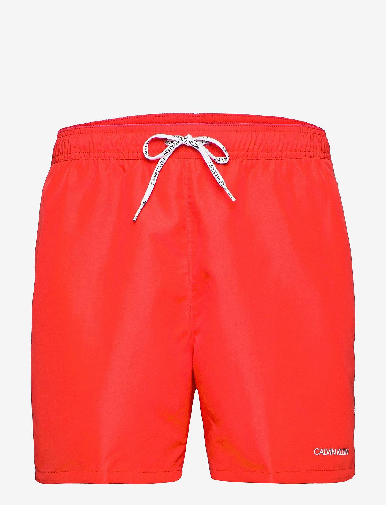 Calvin Klein - MEDIUM DRAWSTRING - shorts de bain - fierce red - 0