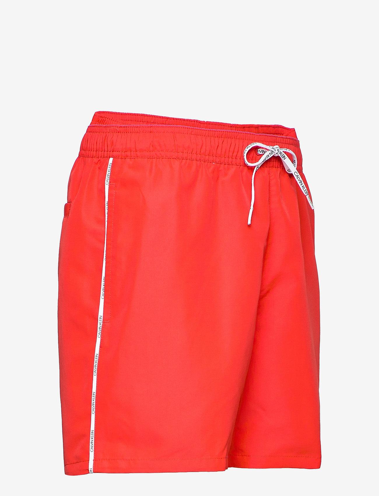 Calvin Klein - MEDIUM DRAWSTRING - shorts de bain - fierce red - 3