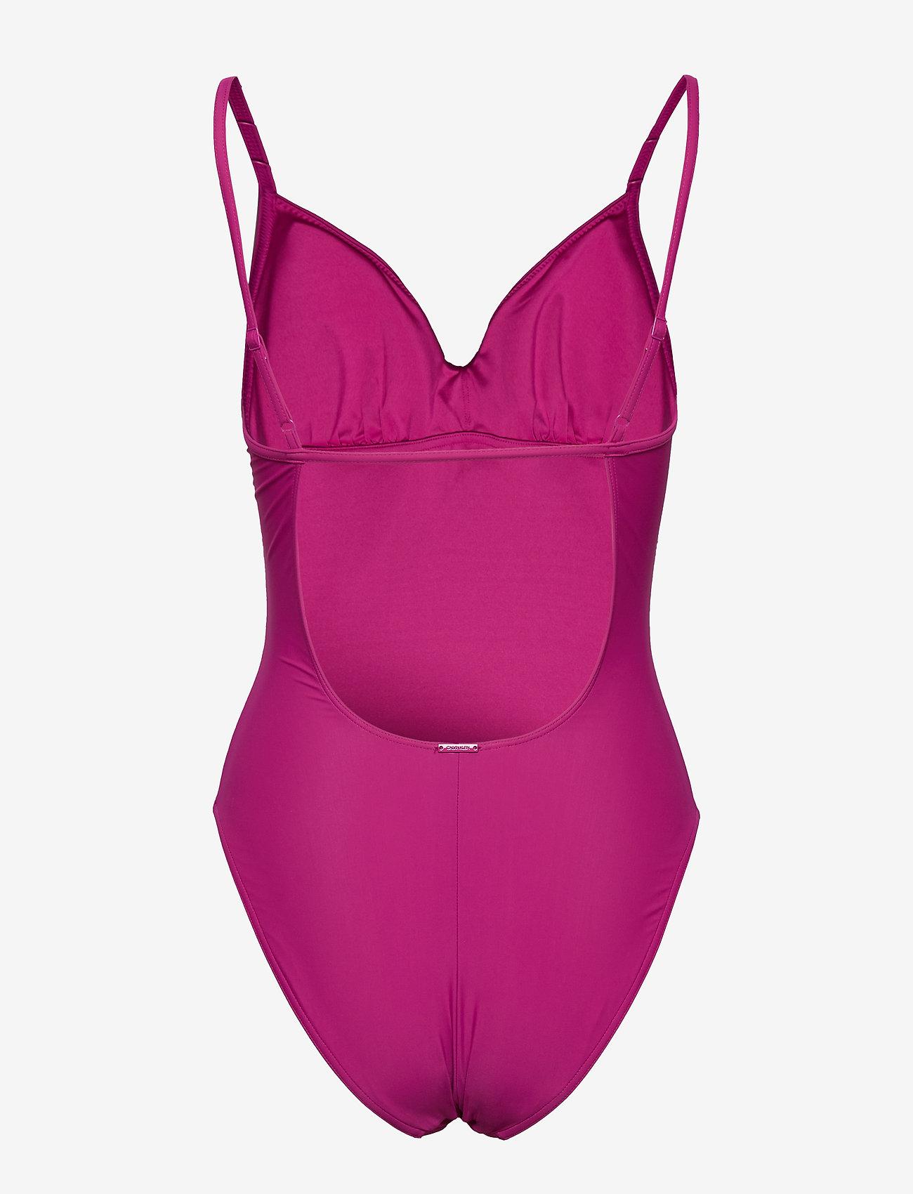 Calvin Klein ONE PIECE-RP - Stroje kąpielow FESTIVAL FUCHSIA - Kobiety Odzież.