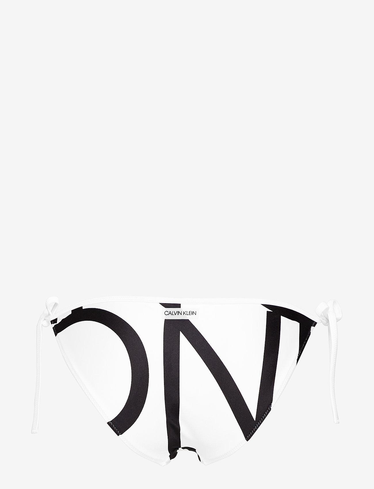 Calvin Klein STRING SIDE TIE - Stroje kąpielow KLEIN ABSTRACT WHITE - Kobiety Odzież.