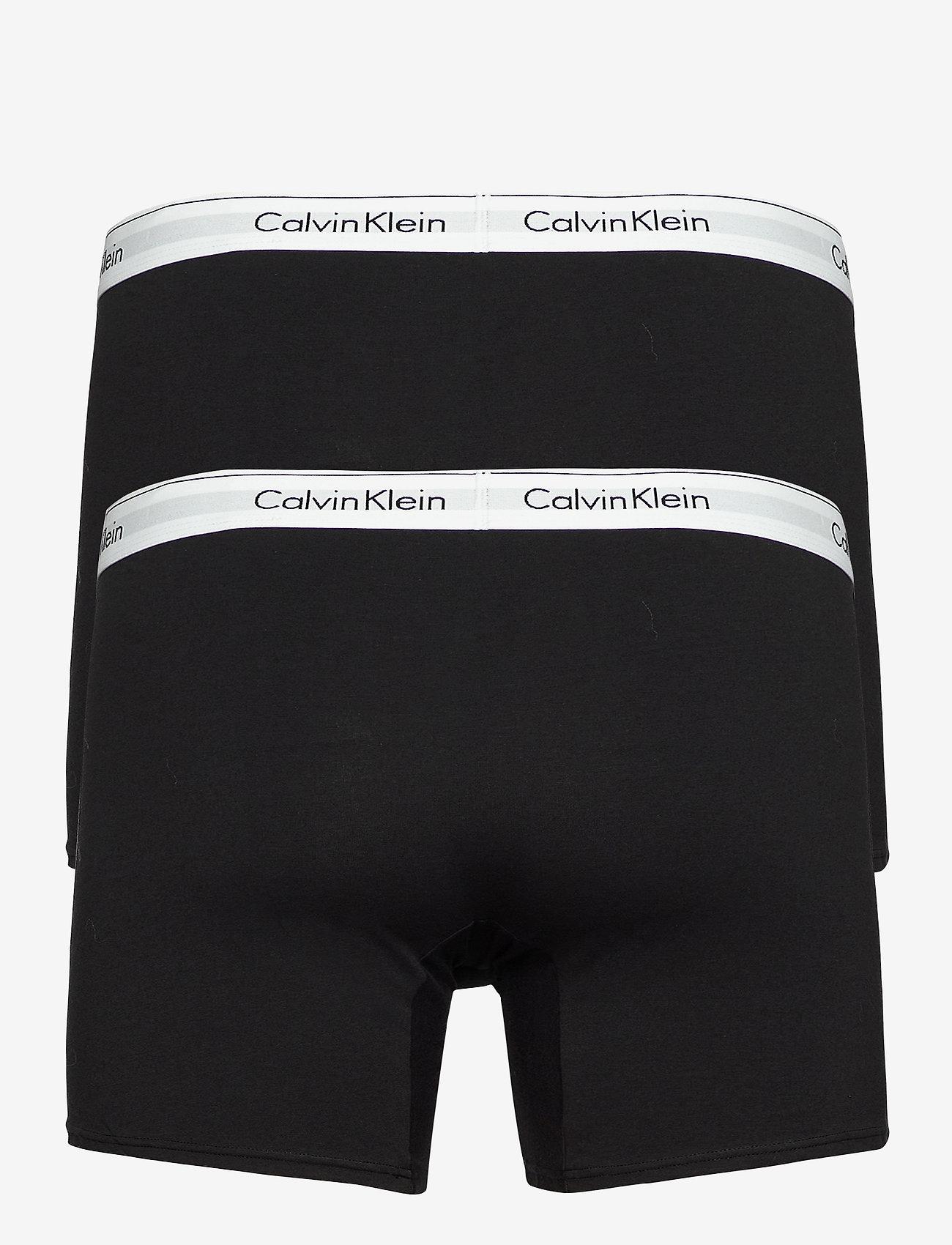 Calvin Klein - 2P BOXER BRIEF - boxershorts - black - 0