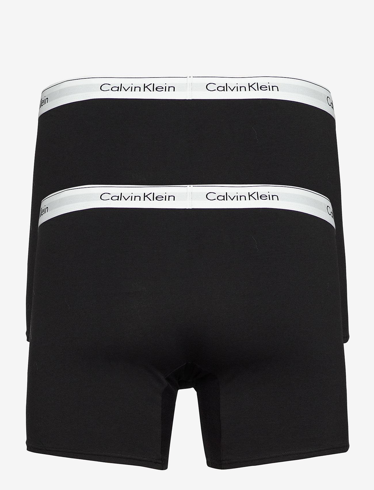 Calvin Klein - 2P BOXER BRIEF - boxershorts - black - 1
