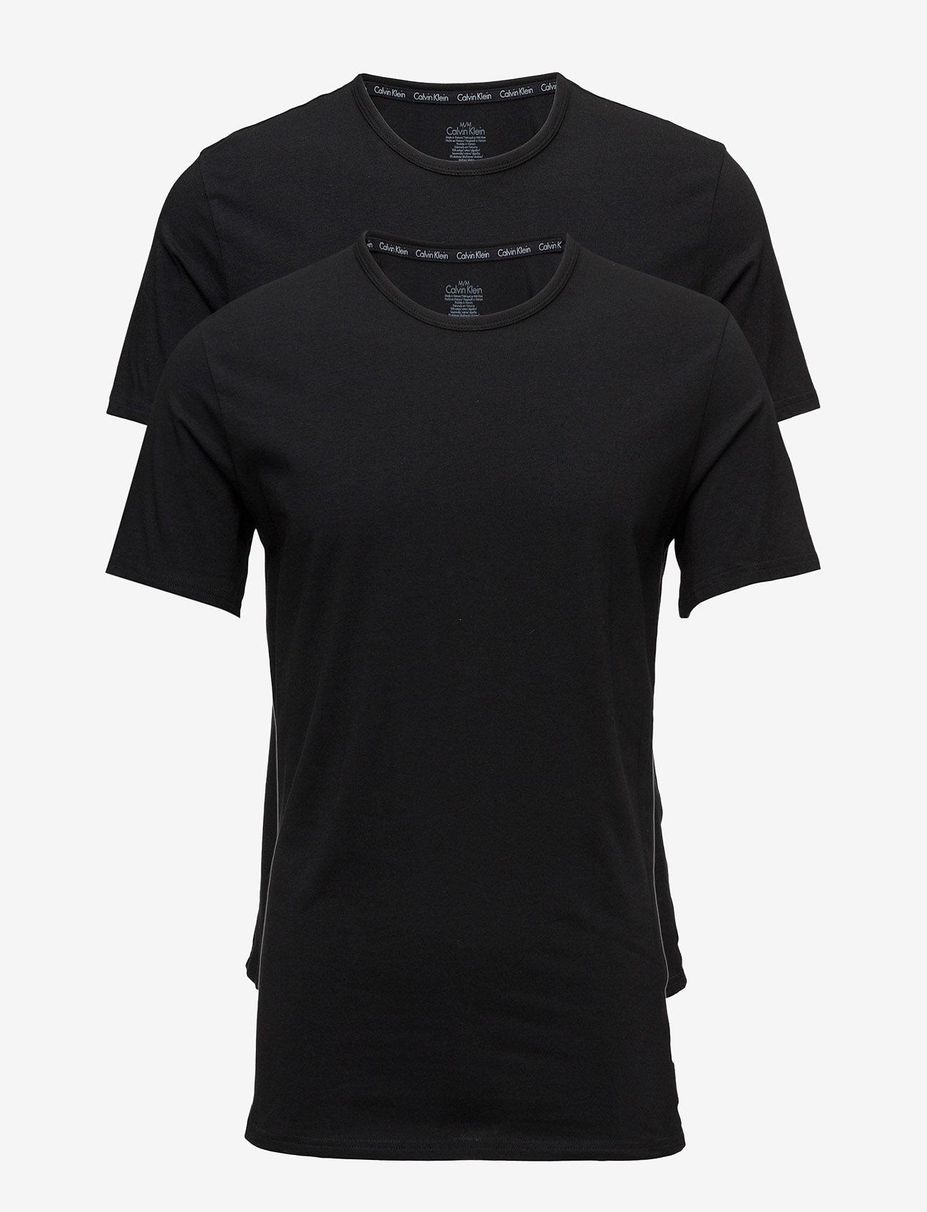 Calvin Klein - 2P S/S CREW NECK - t-shirts basiques - black - 0