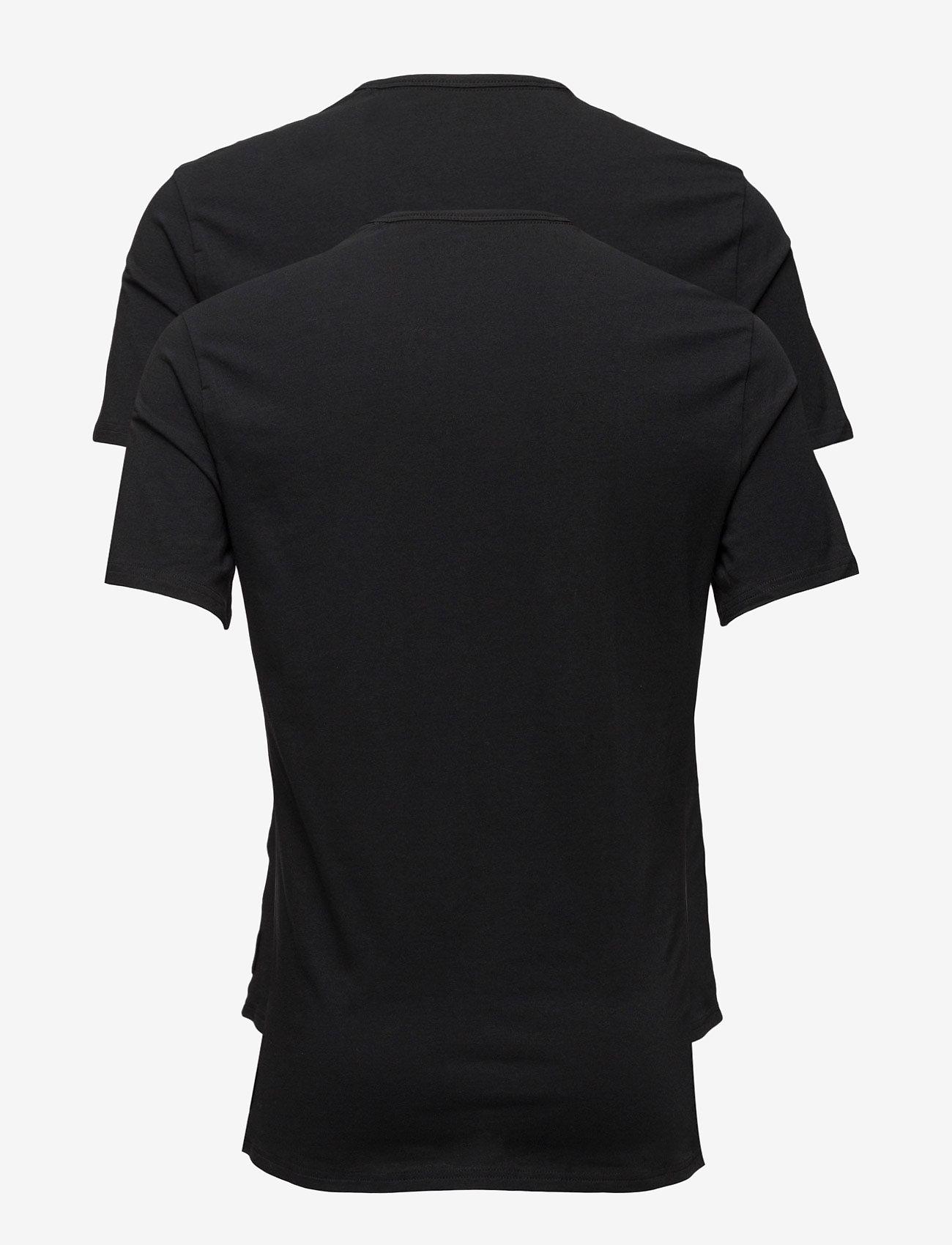 Calvin Klein - 2P S/S CREW NECK - t-shirts basiques - black - 1