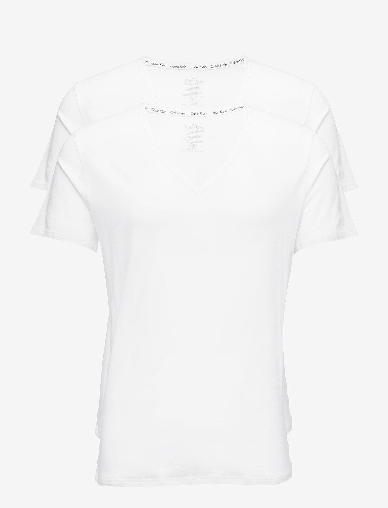 Calvin Klein - 2P S/S V NECK - multipack - white - 0