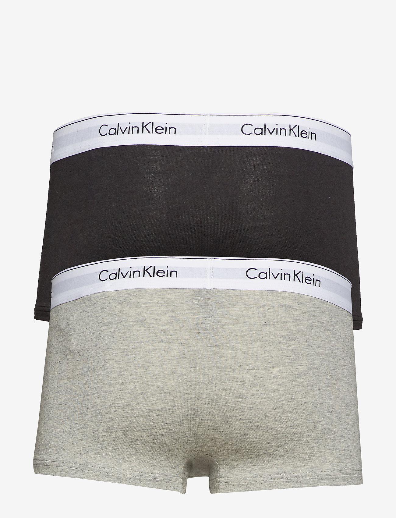 Calvin Klein - LOW RISE TRUNK 2PK - boxershorts - black/grey heather - 1