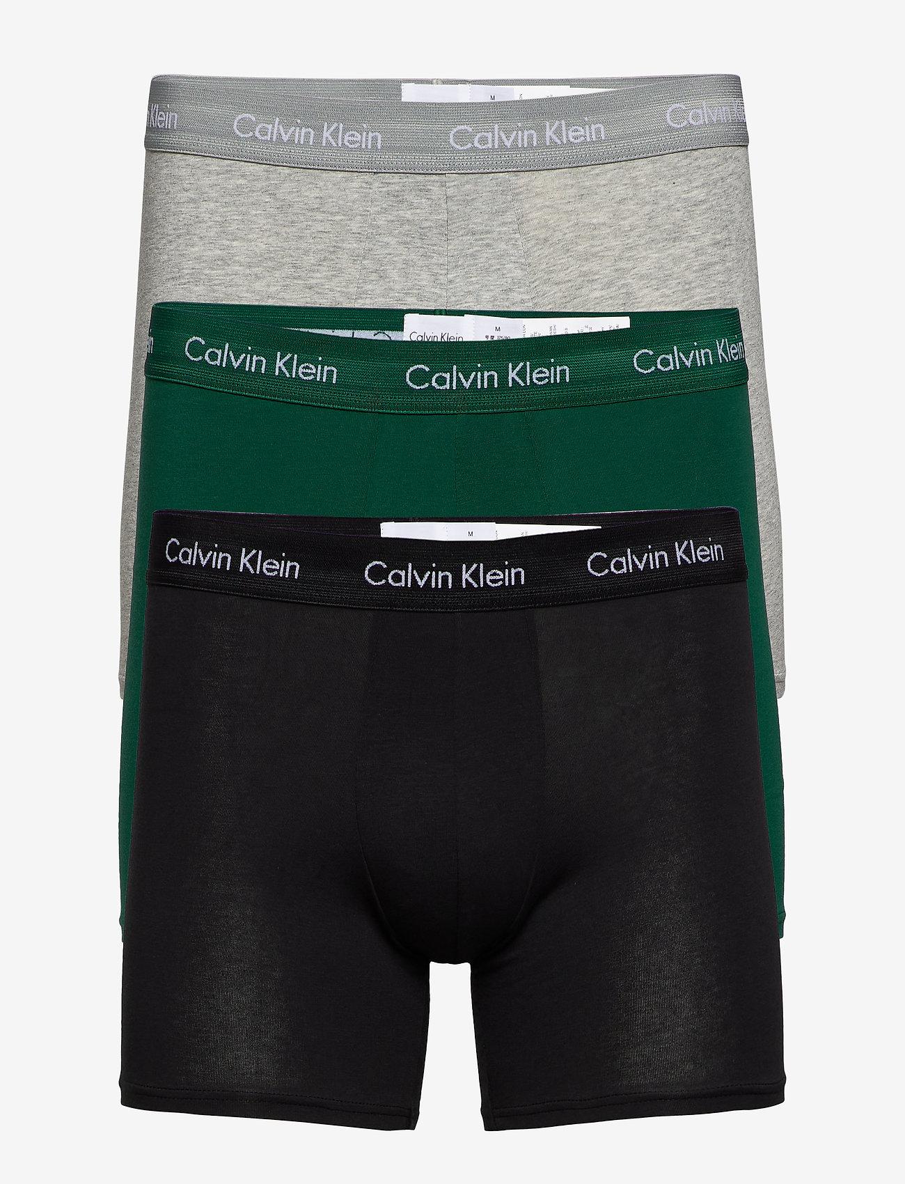 Calvin Klein - BOXER BRIEF 3PK - boxershorts - alligator/ grey heather/ black - 0