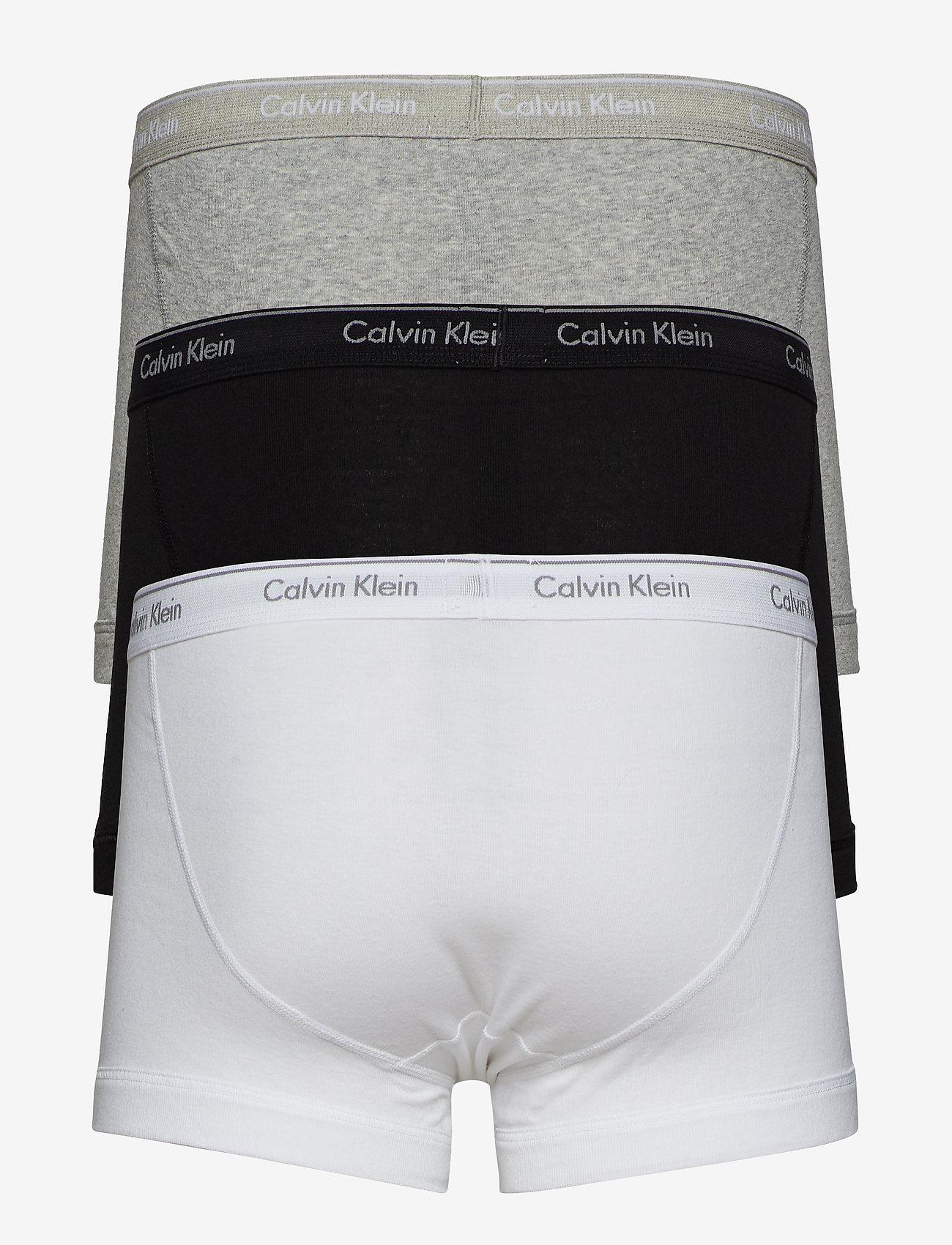 Calvin Klein - TRUNK 3PK - boxershorts - black/white/grey heather - 1