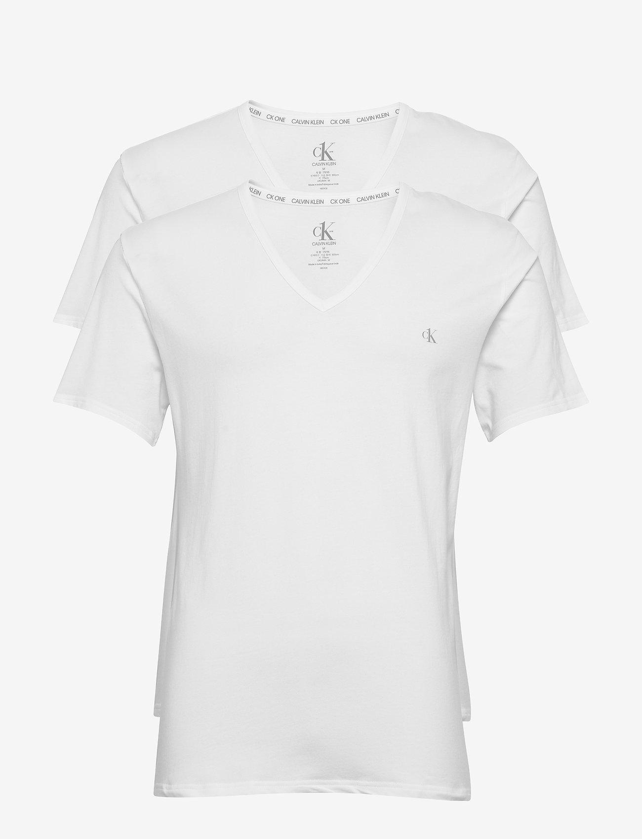 Calvin Klein - S/S V NECK 2PK - multipack - white - 0