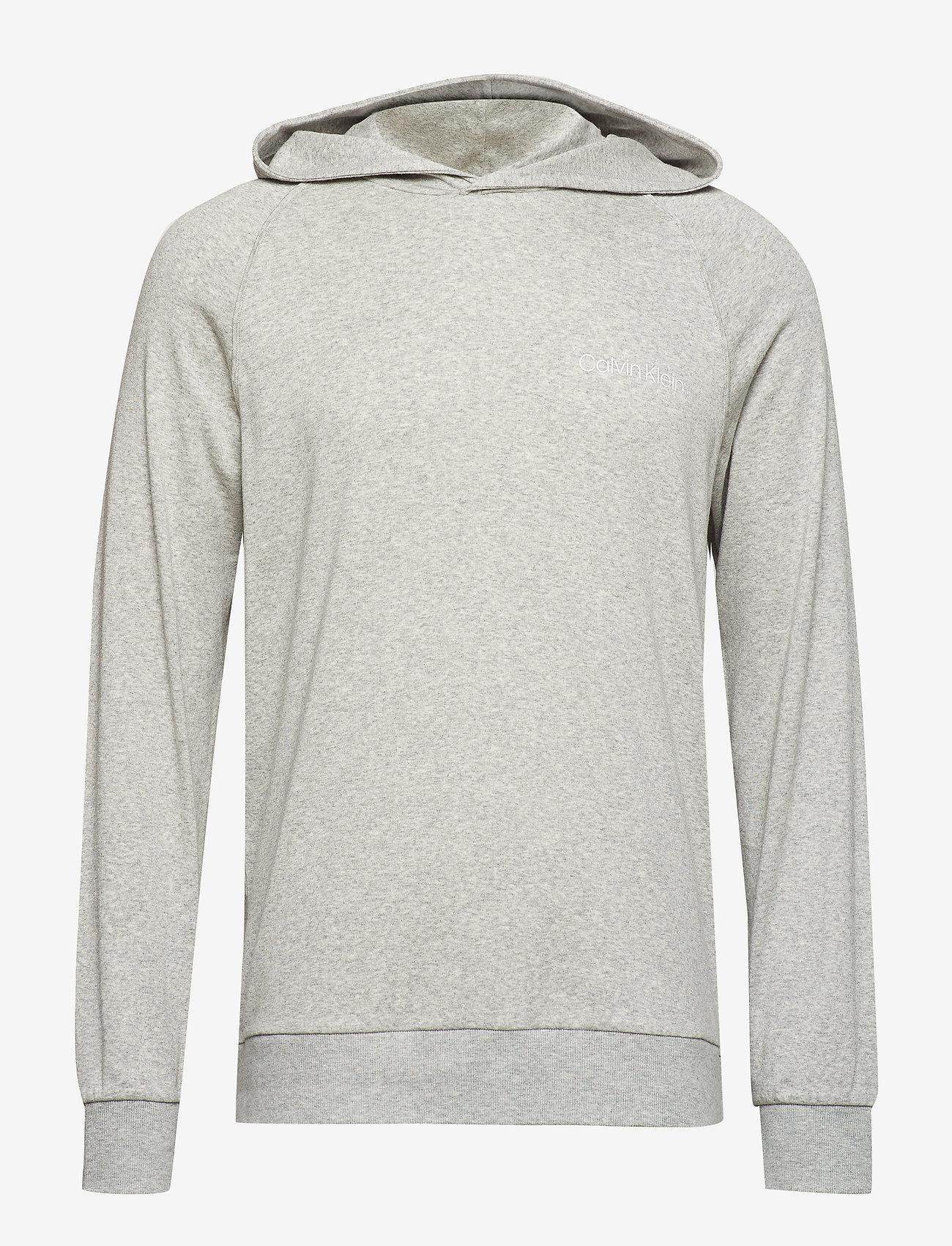 Calvin Klein - L/S HOODIE - hoodies - grey heather - 0