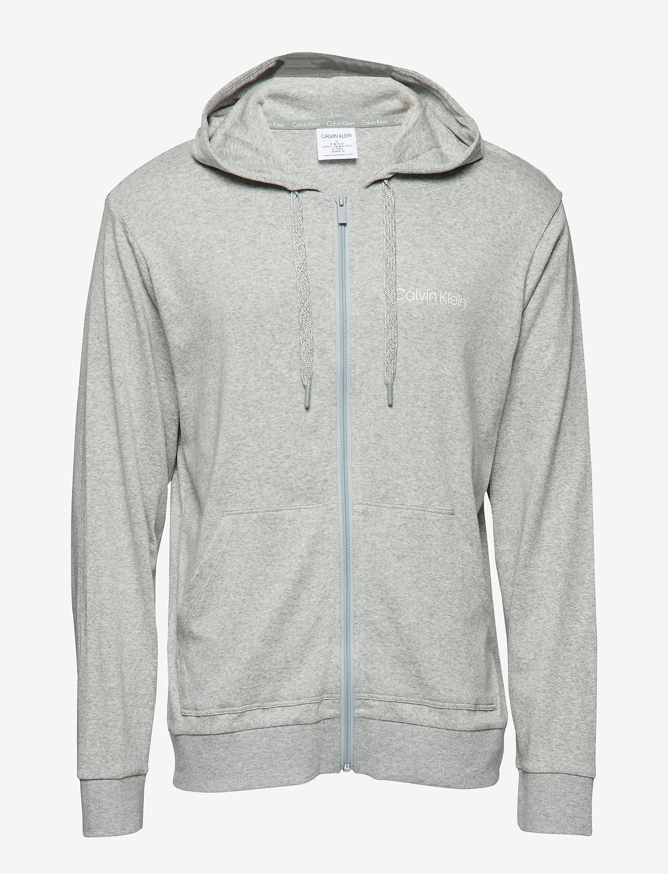 Calvin Klein - FULL ZIP SWEATSHIRT - sweats à capuche - grey heather - 0