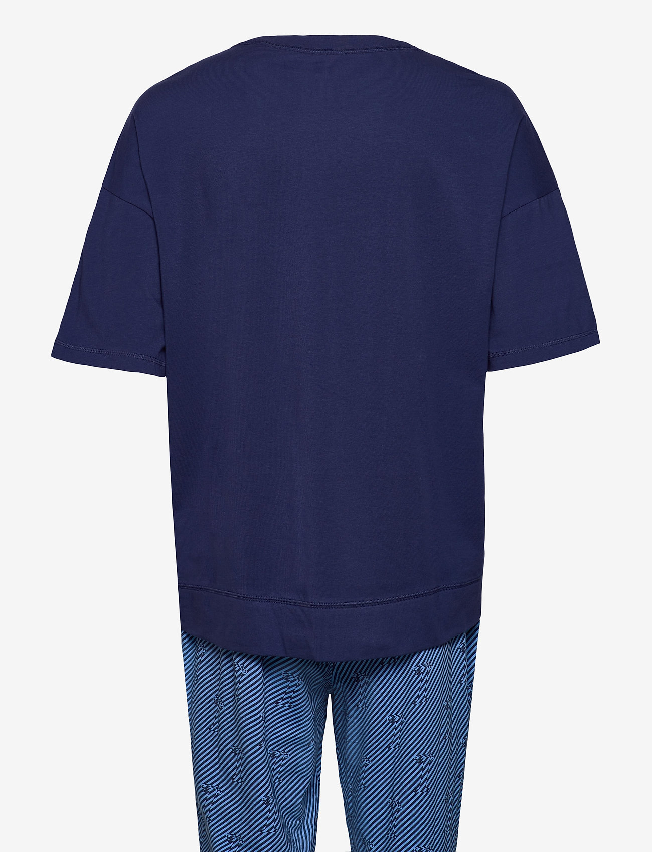 Calvin Klein - S/S JOGGER PJ SET - pyjamas - blue top/ numero uno stripe bo - 1