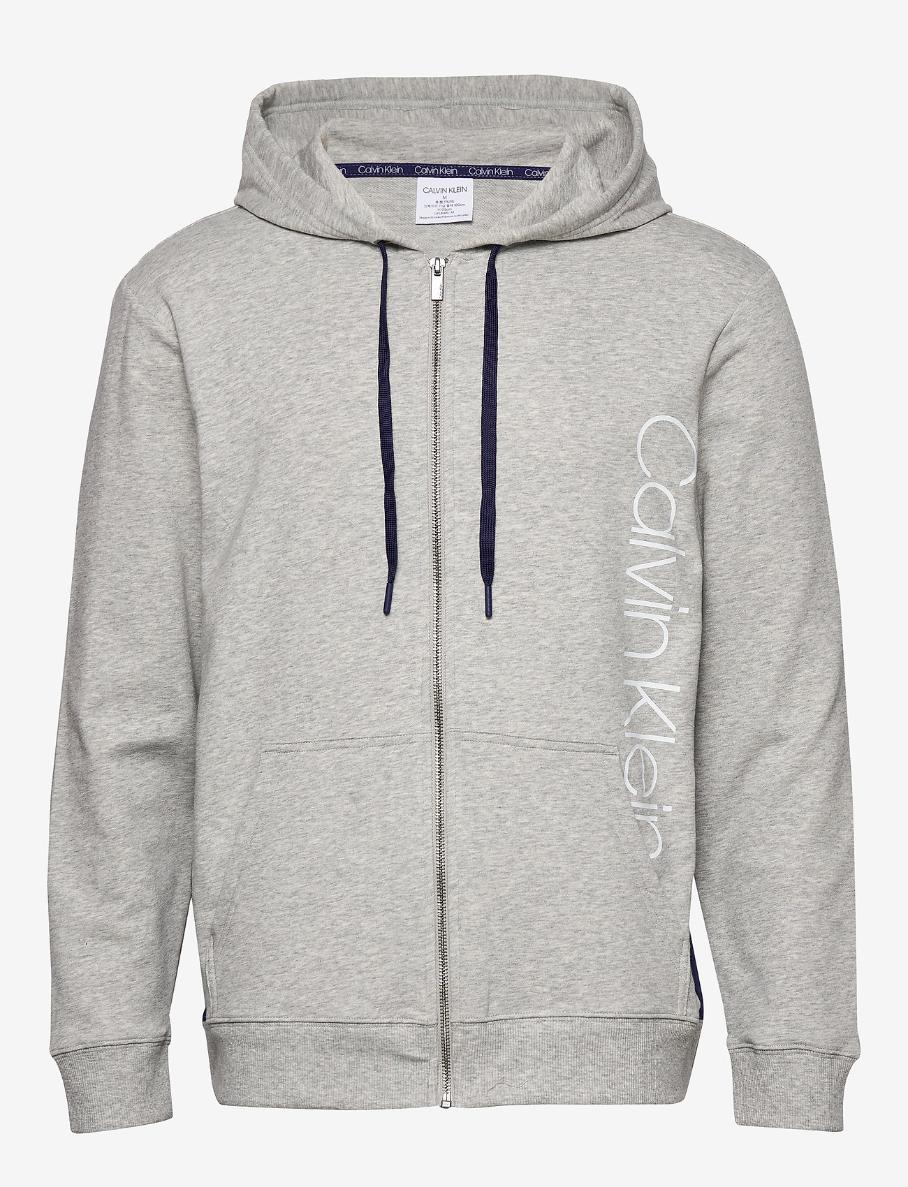 Calvin Klein - FULL ZIP HOODIE - basic sweatshirts - grey heather w/ horoscope piec - 0
