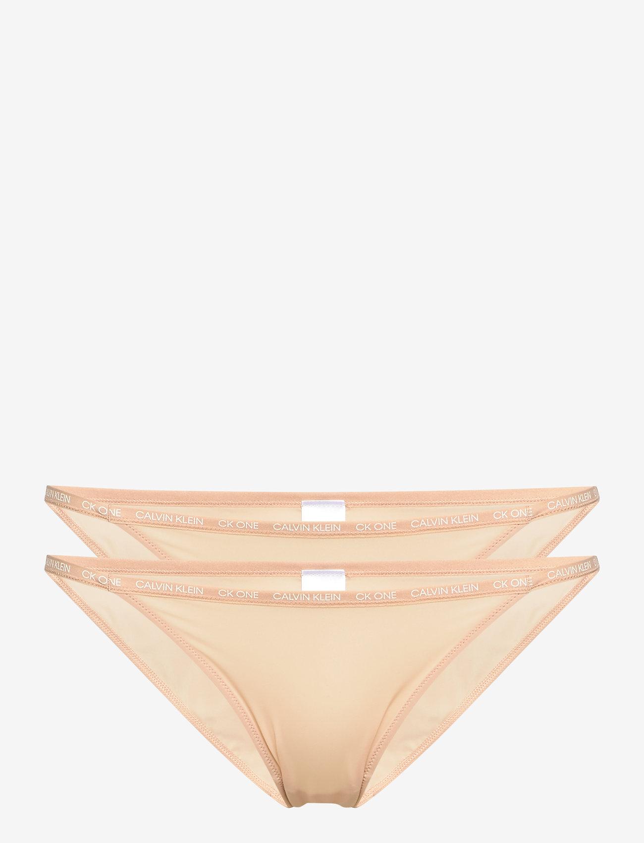 Calvin Klein - STRING BIKINI 2PK - briefs - bare - 0