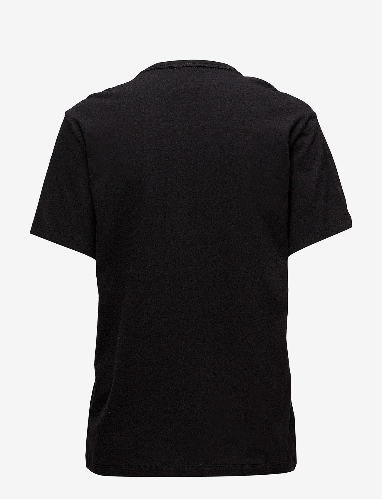 Calvin Klein - S/S CREW NECK - góry - black - 1