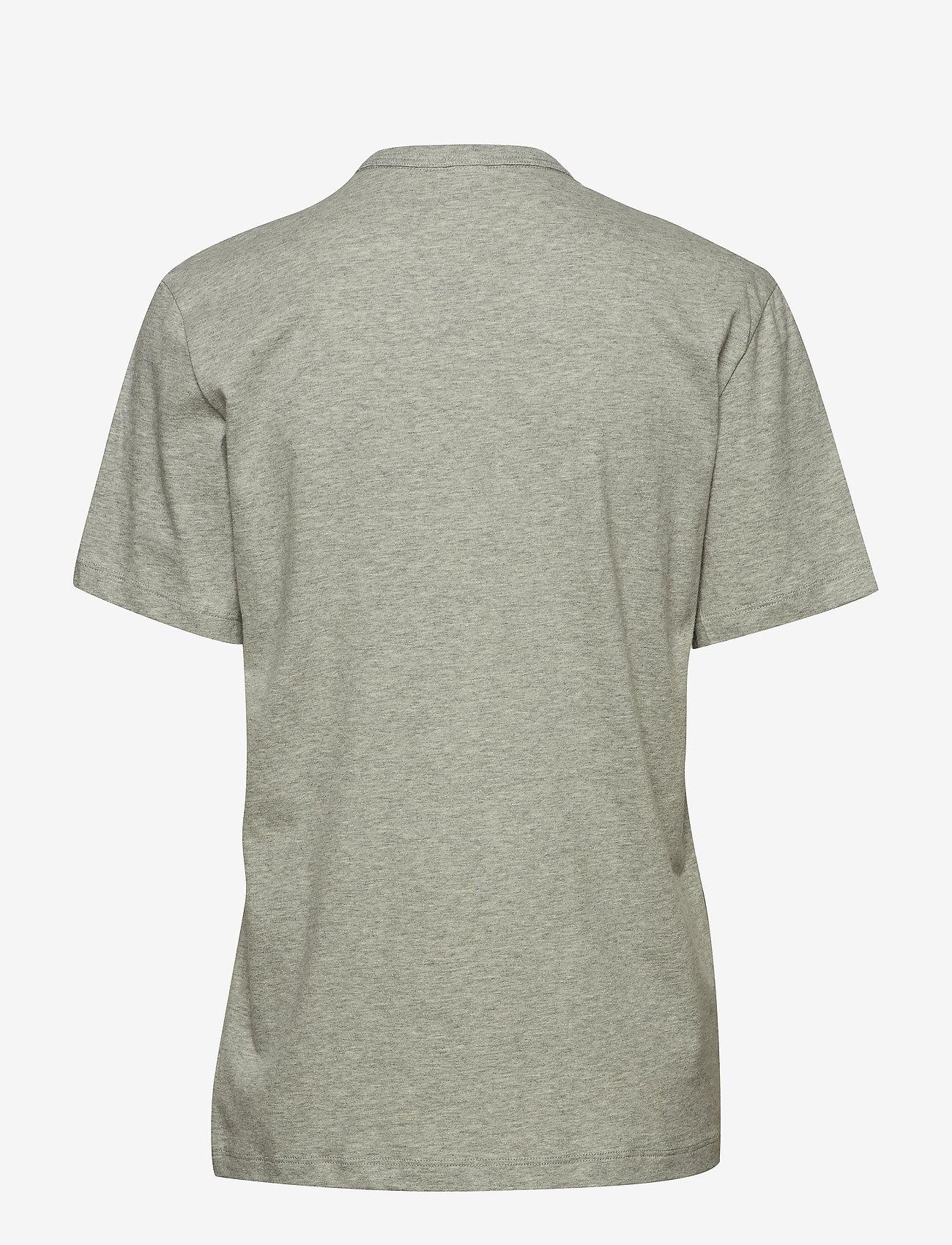 Calvin Klein - S/S CREW NECK - góry - grey heather - 1