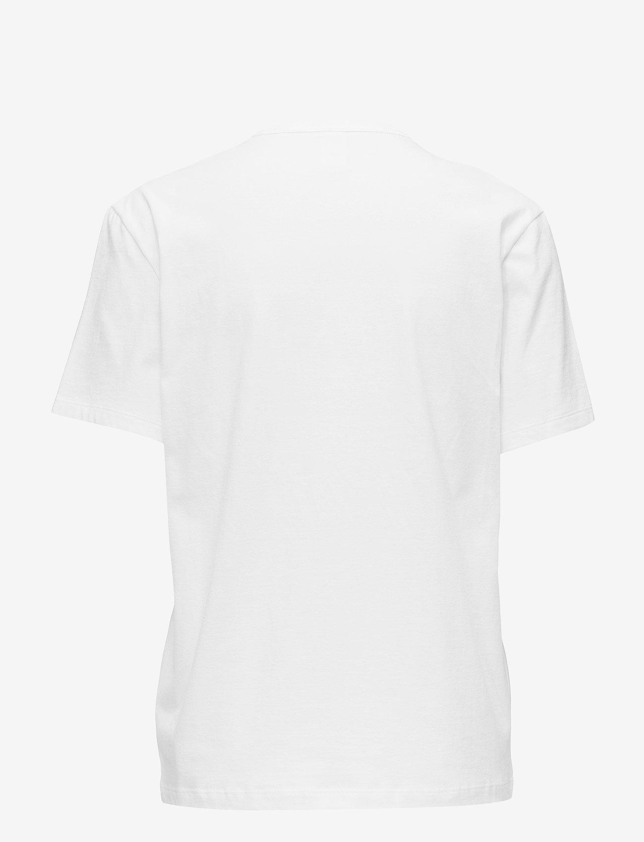 Calvin Klein - S/S CREW NECK - góry - white - 1