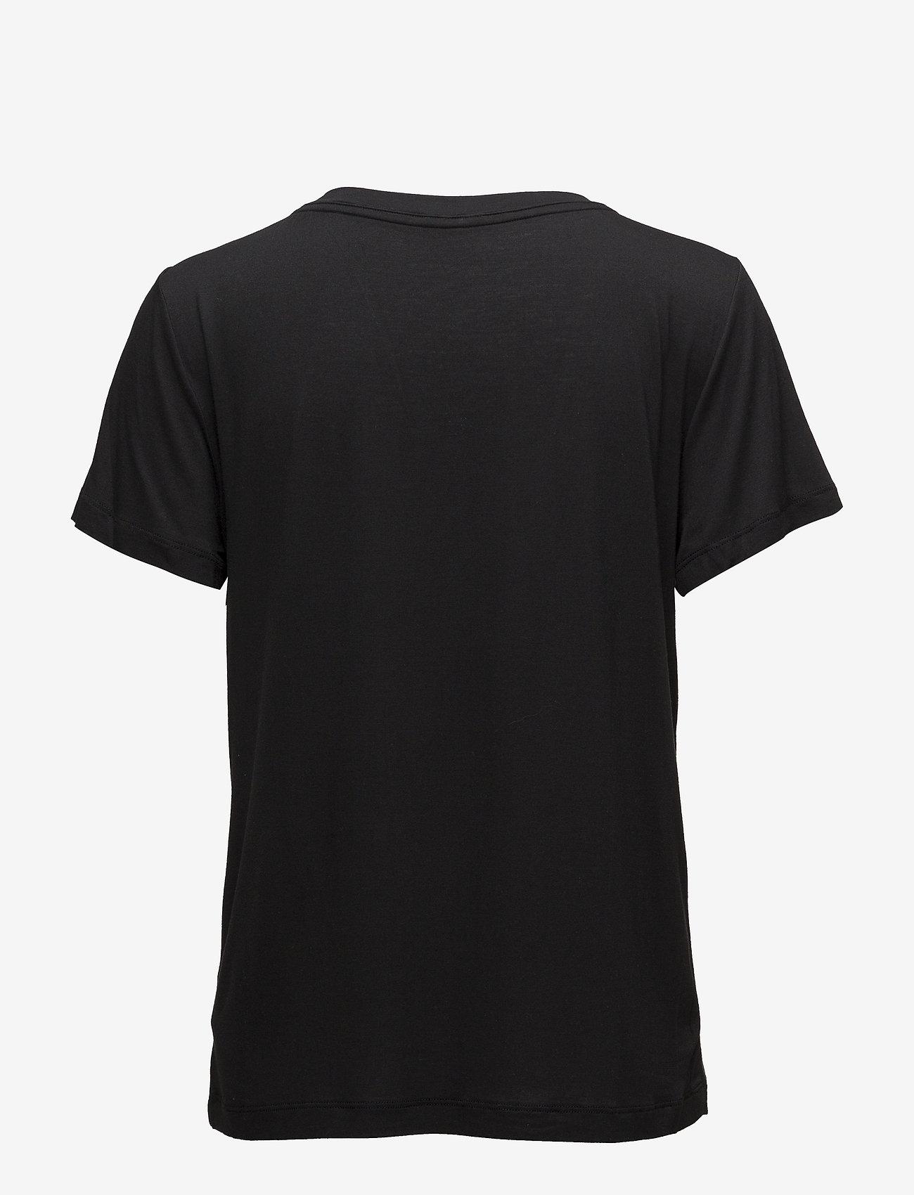 Calvin Klein - S/S V NECK - tops - black