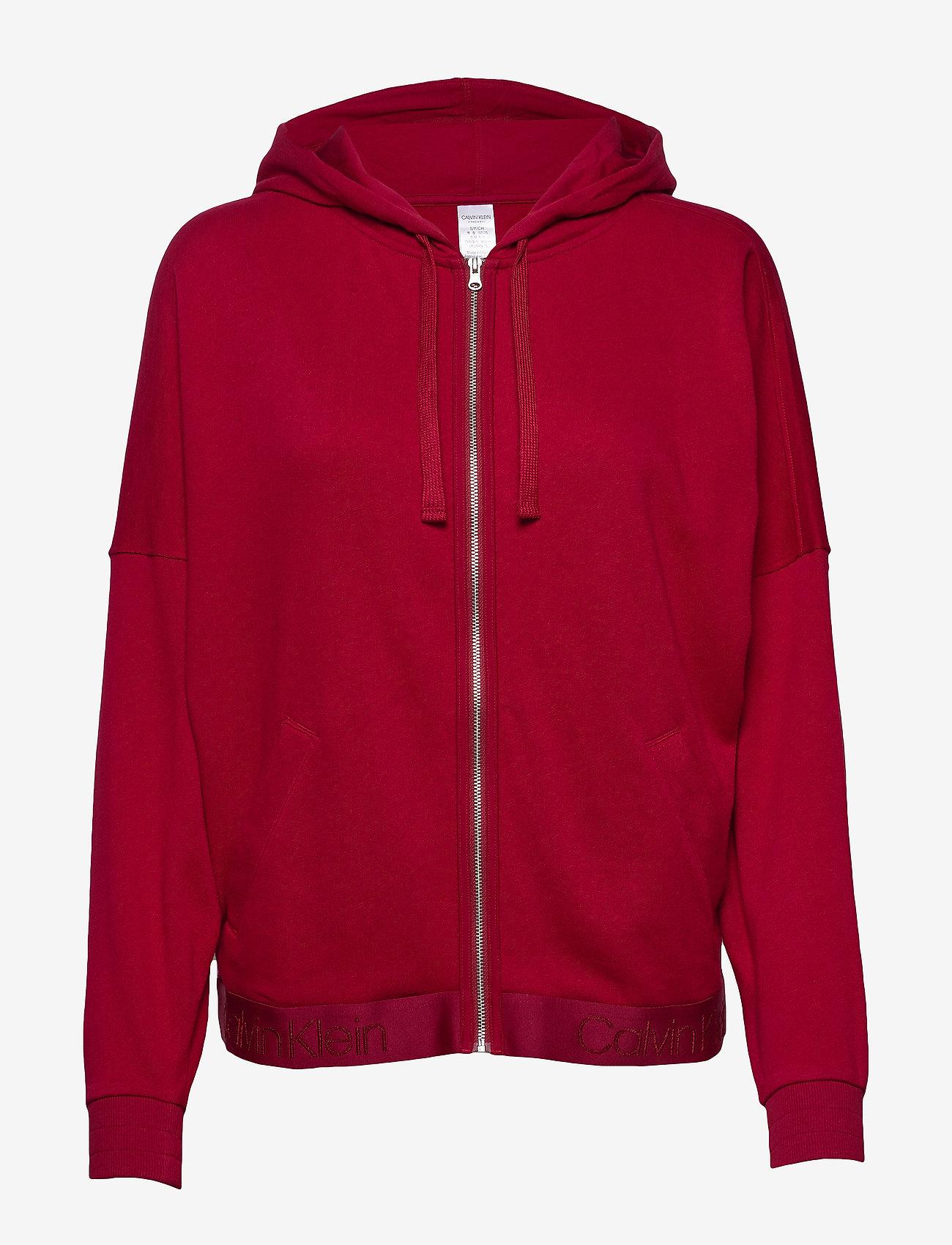 Calvin Klein - FULL ZIP HOODIE - hoodies - ember blaze