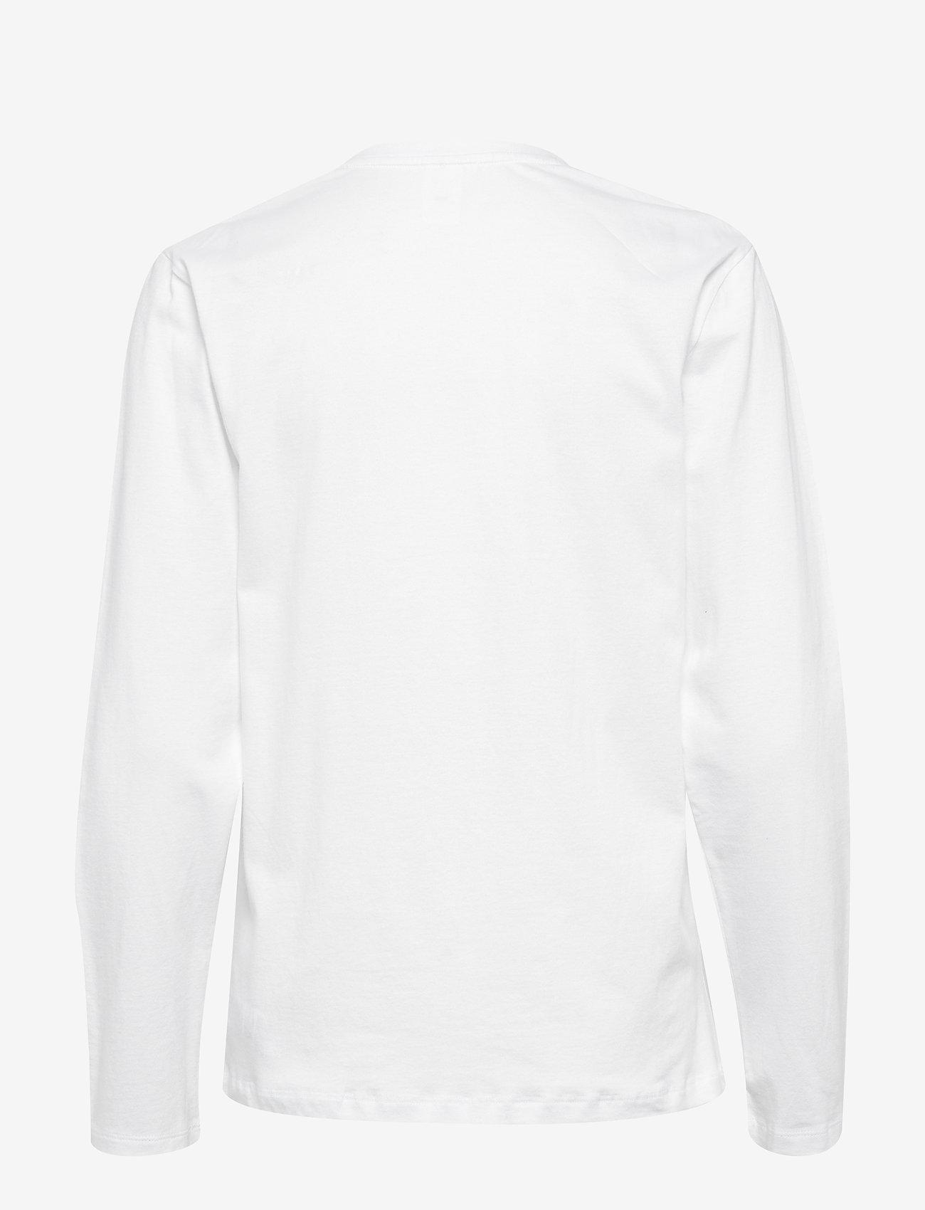 Calvin Klein - L/S CREW NECK - tops - white - 1