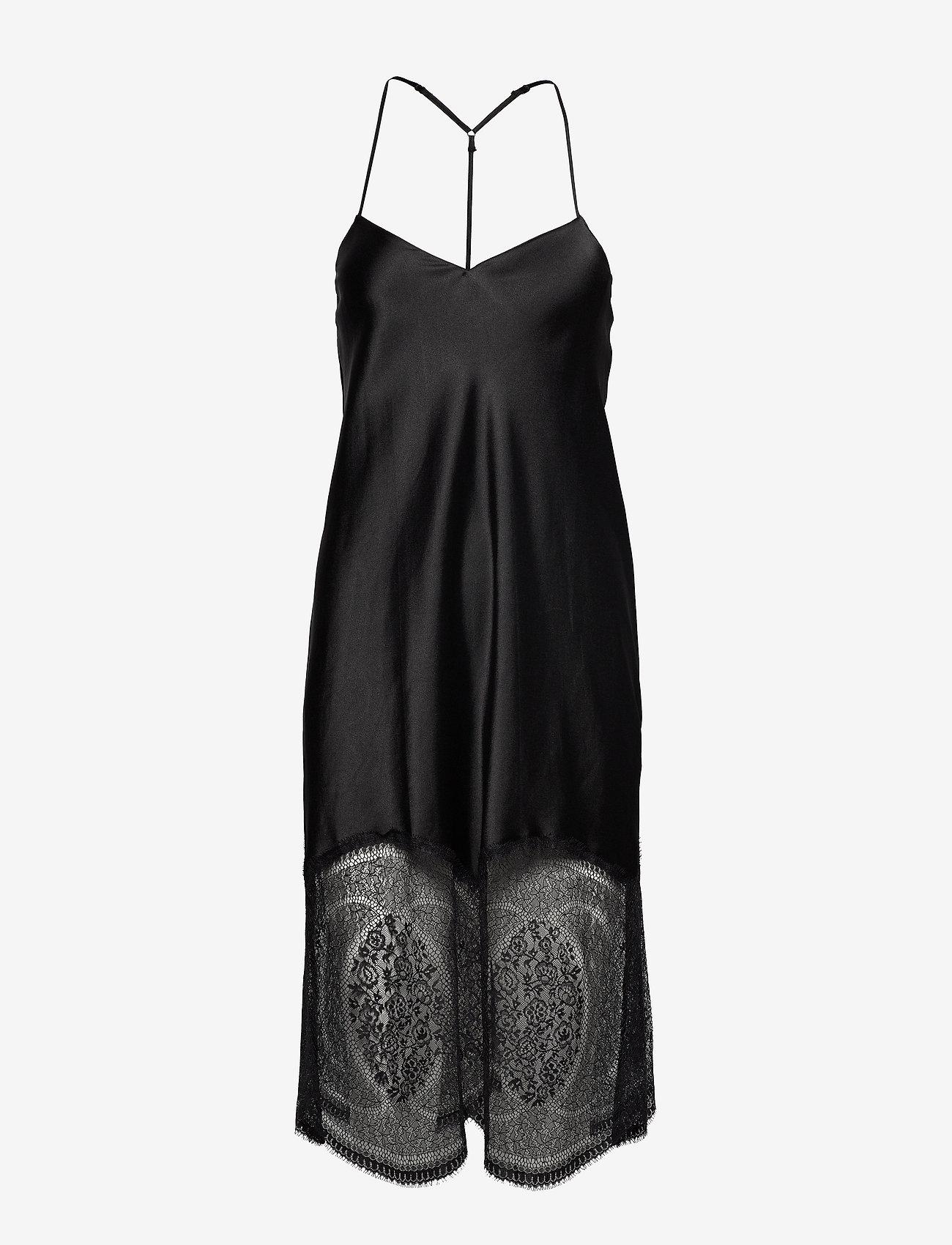 Calvin Klein - CHEMISE - bodies & slips - black - 0