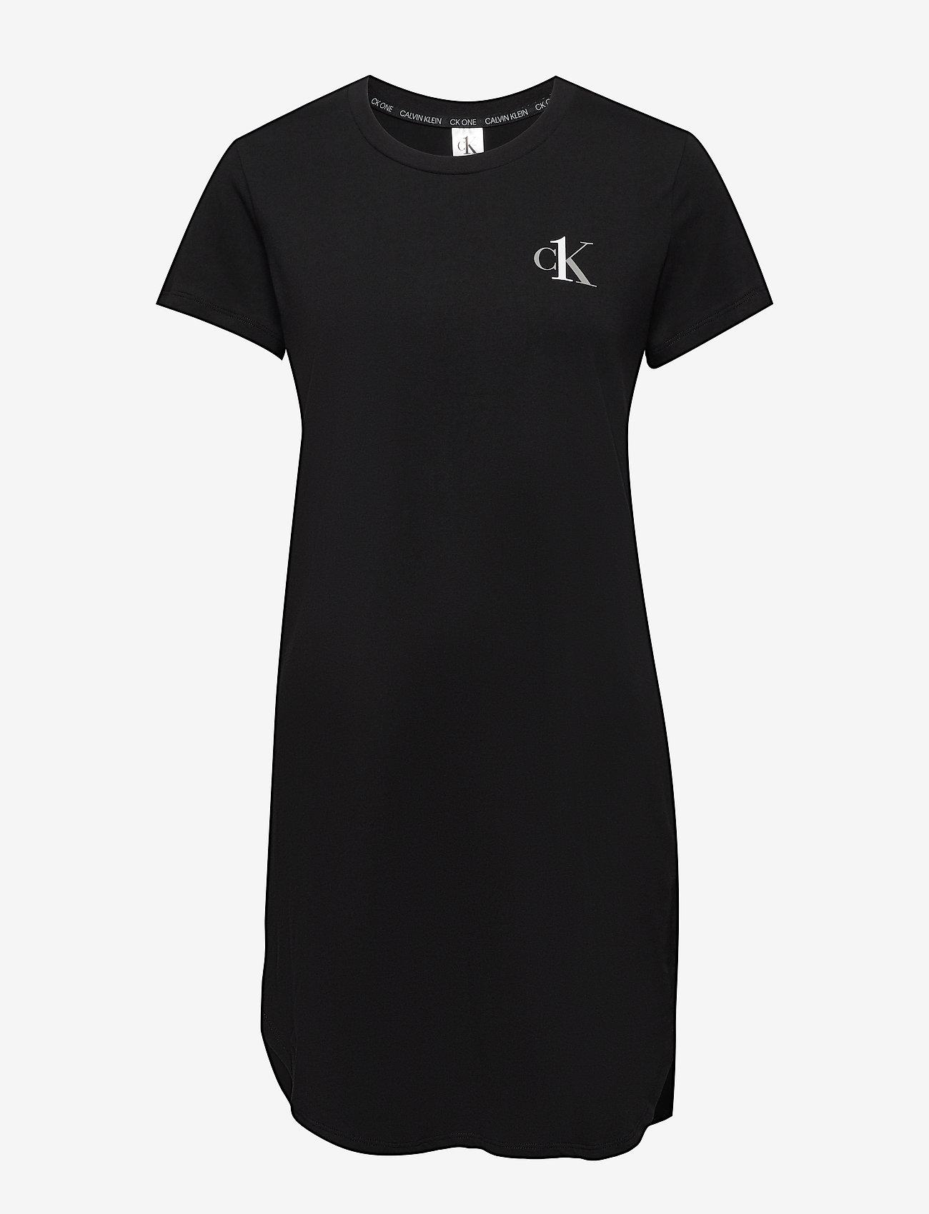 Calvin Klein - S/S NIGHTSHIRT - koszulki do spania - black - 0