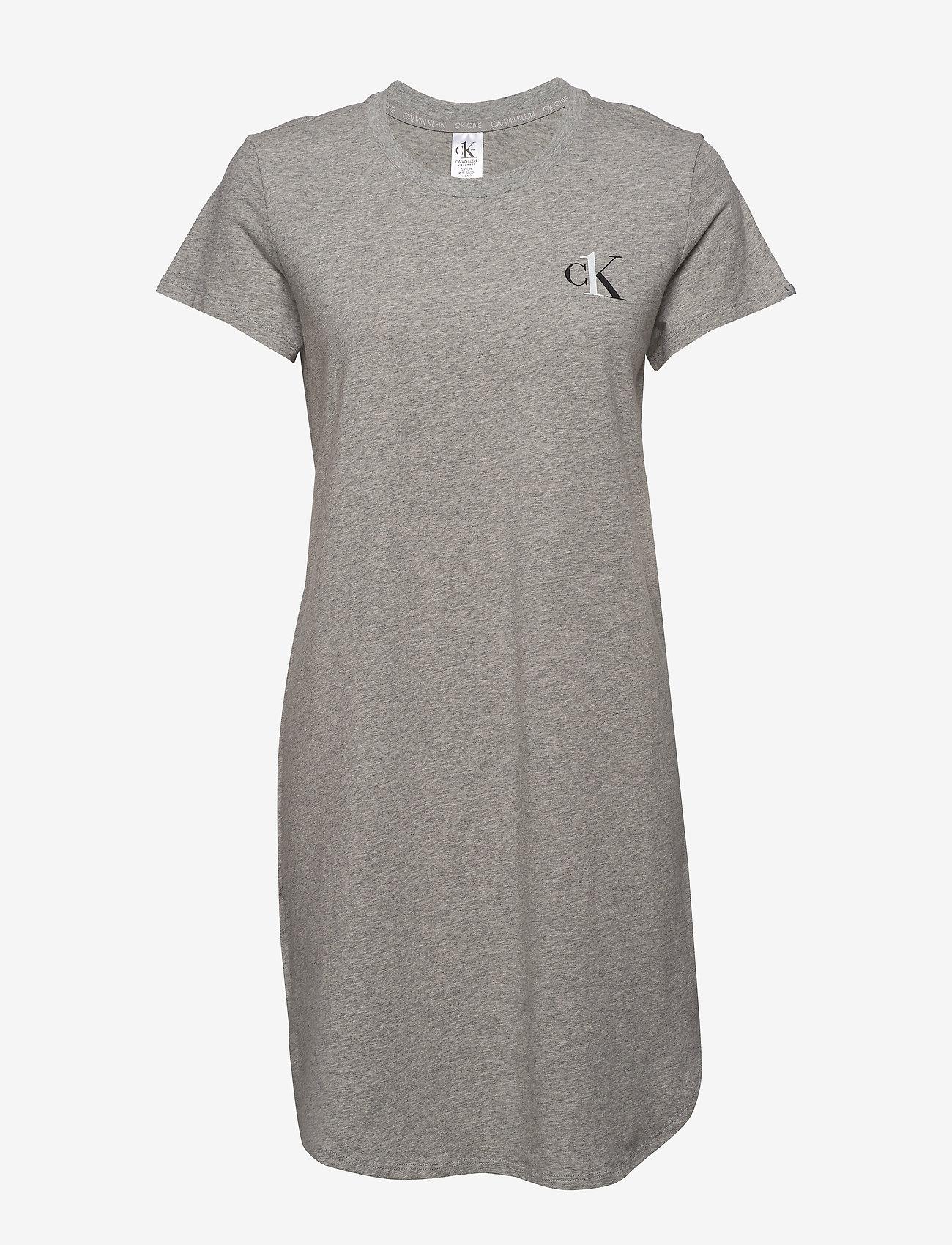 Calvin Klein - S/S NIGHTSHIRT - nachtjurken - grey heather - 0