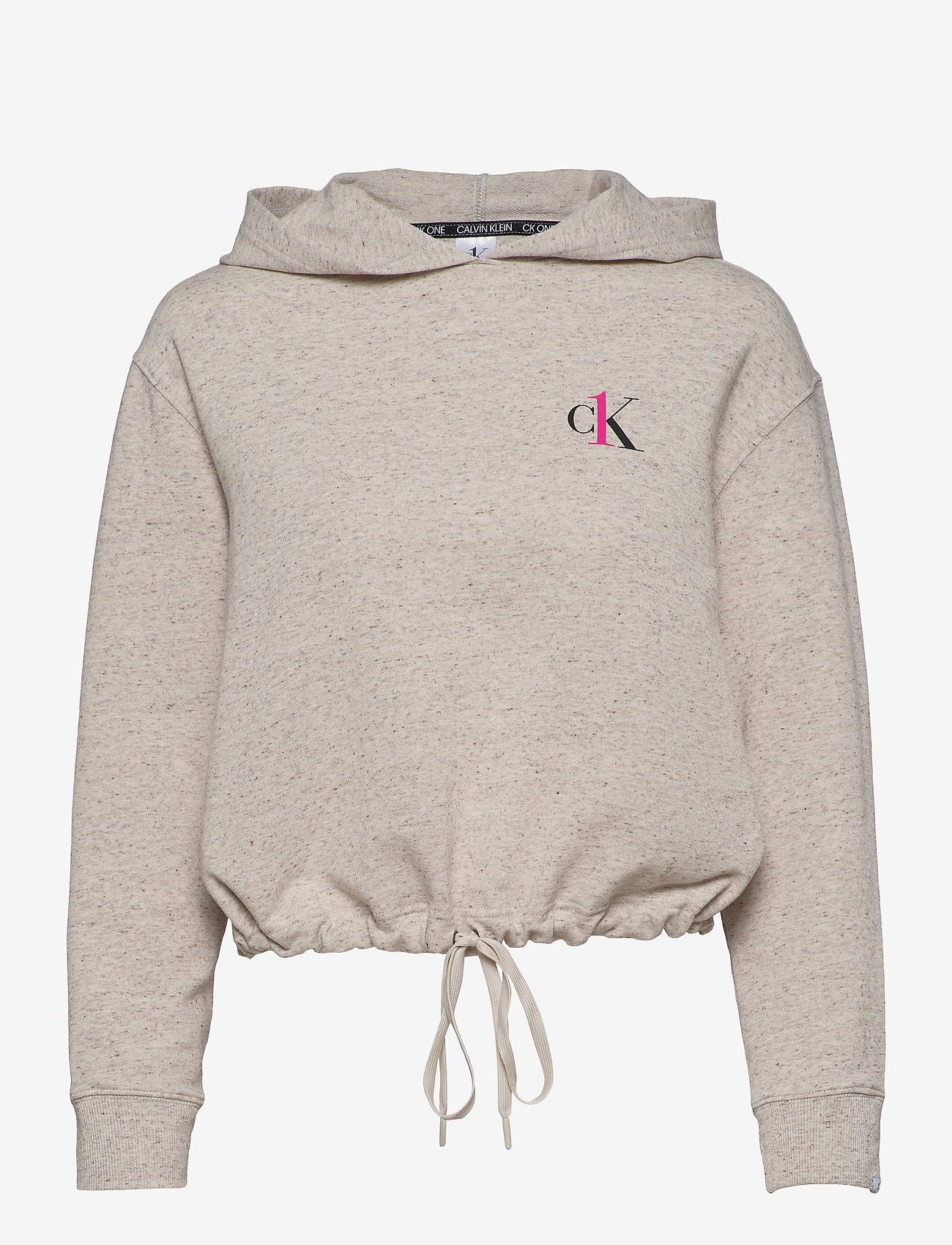 Calvin Klein - L/S HOODIE - góry - buff heather - 0