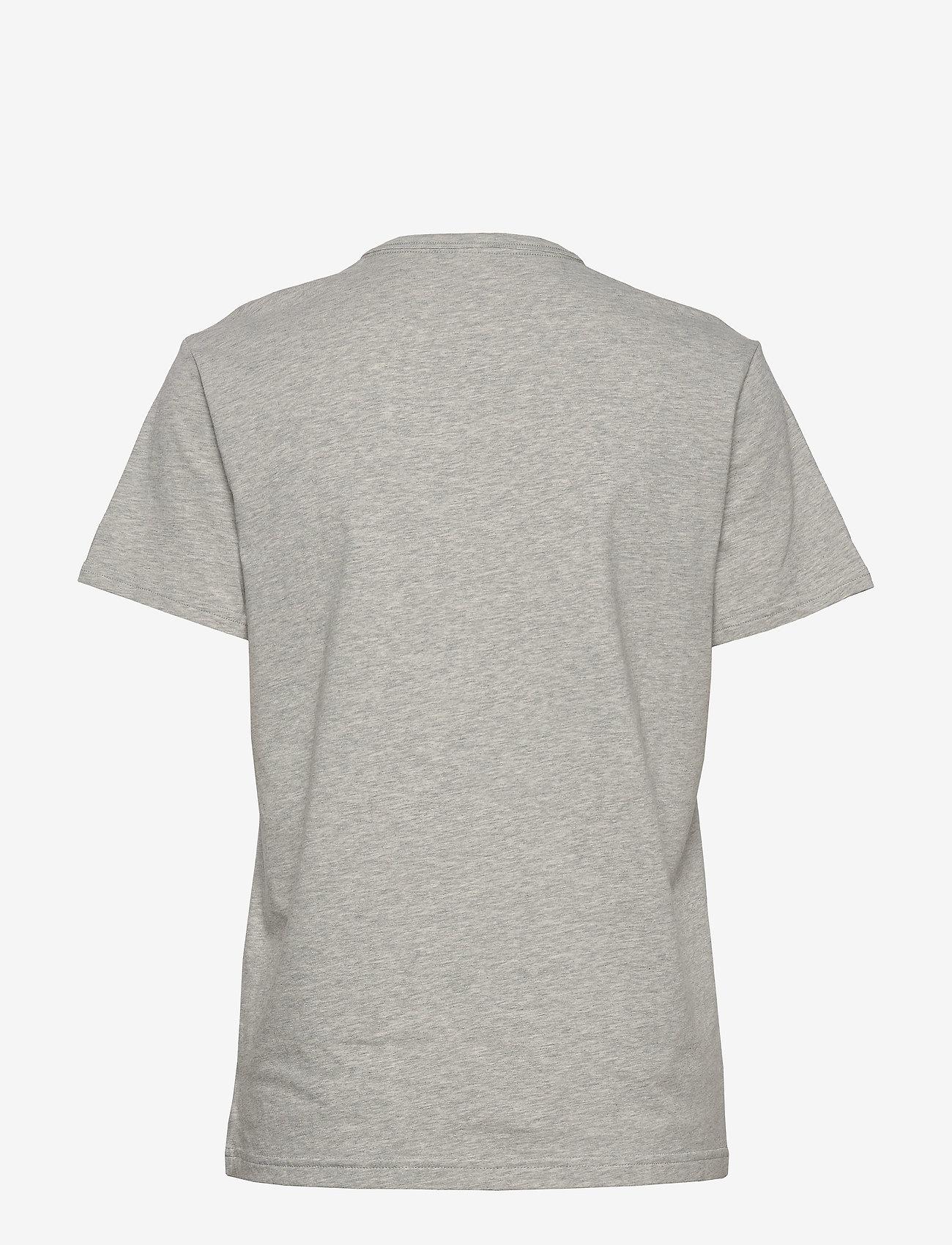 Calvin Klein - S/S CREW NECK - t-shirty - grey heather_black logo - 1