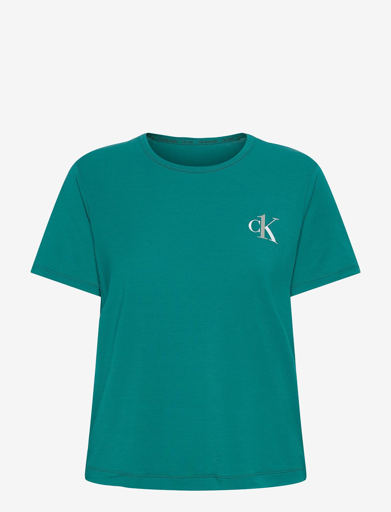 Calvin Klein - S/S CREW NECK - t-shirty - turtle bay - 0