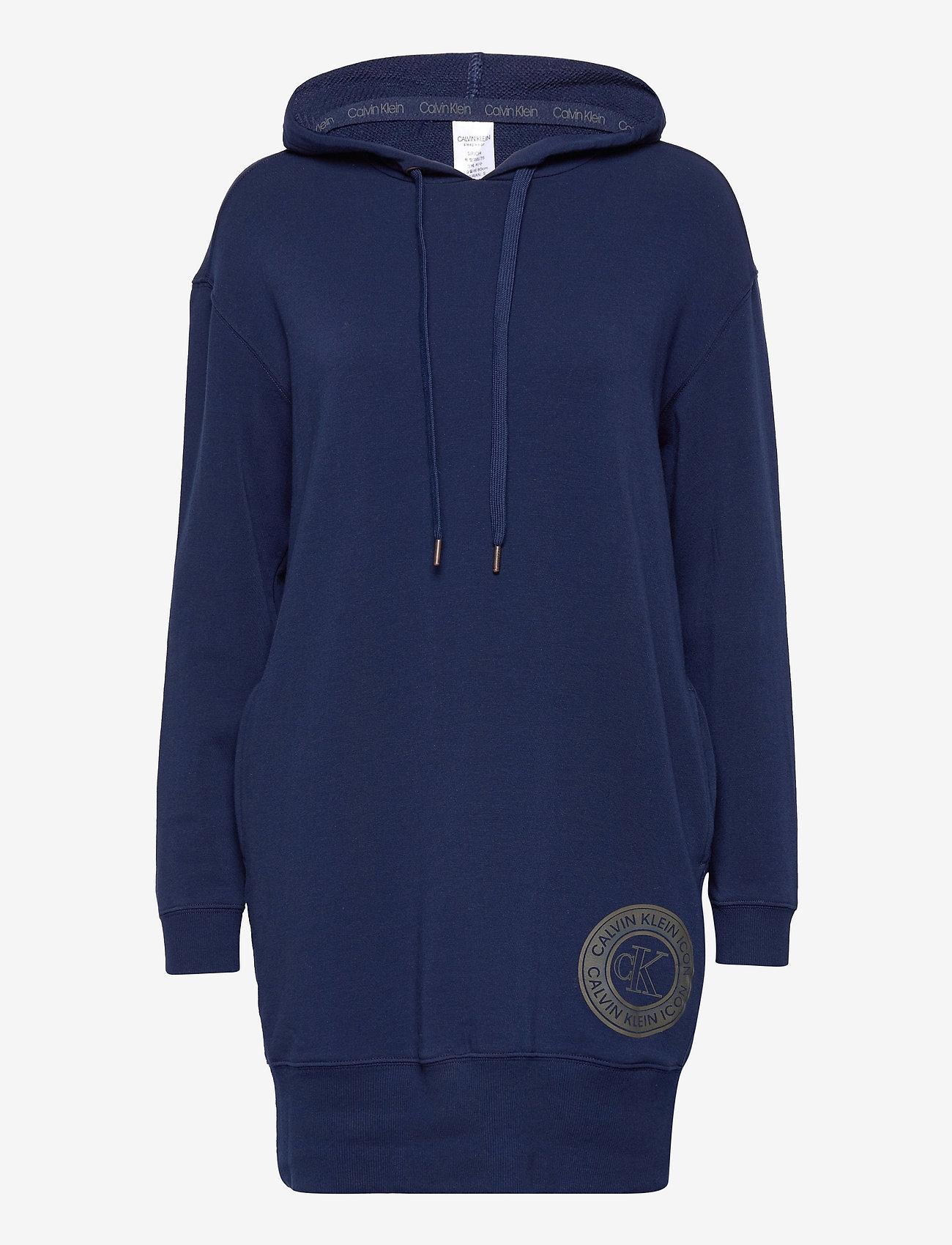 Calvin Klein - L/S NIGHTSHIRT (HOODIE) - hoodies - new navy - 0