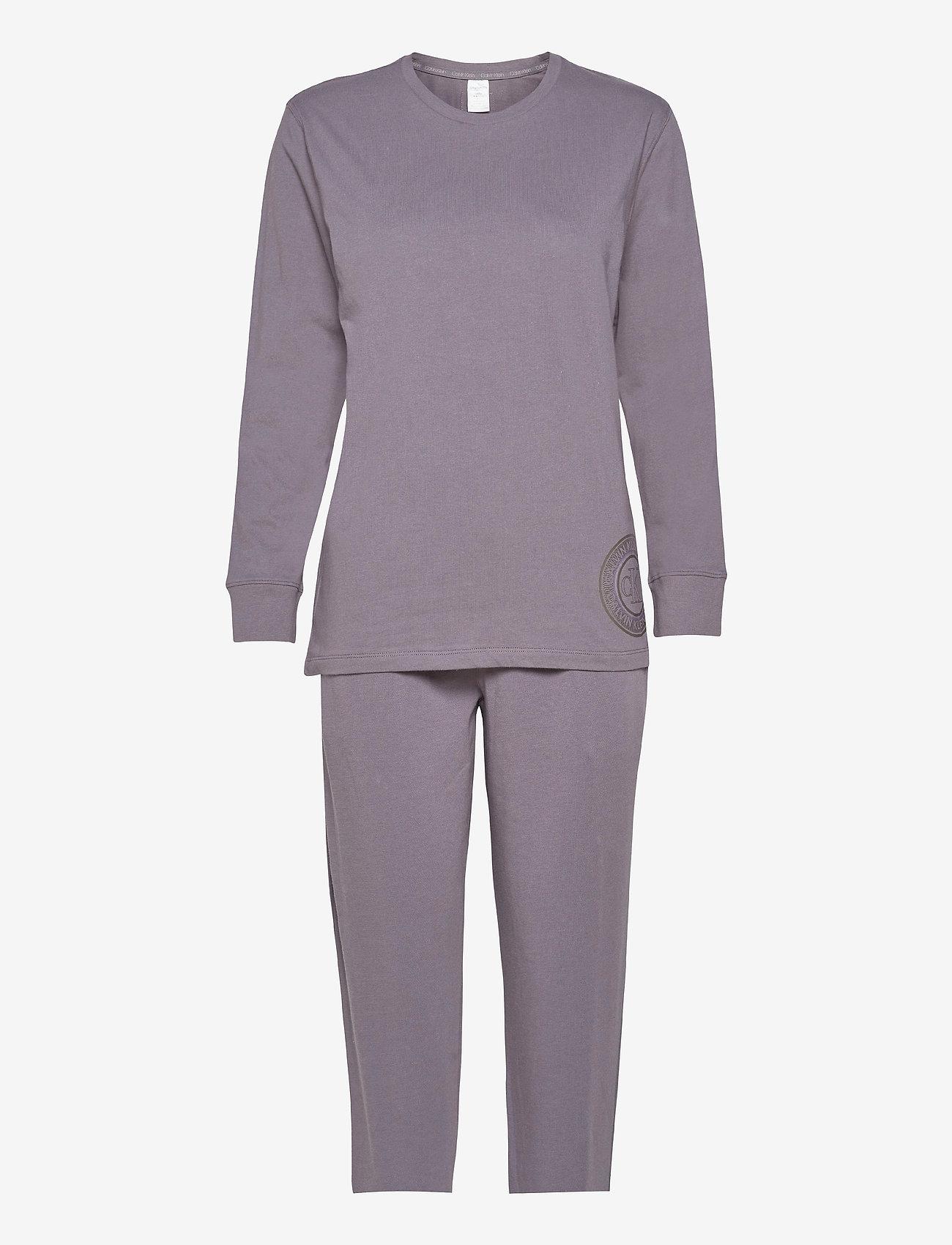Calvin Klein - L/S PANT SET - pyjama''s - purple haze - 0