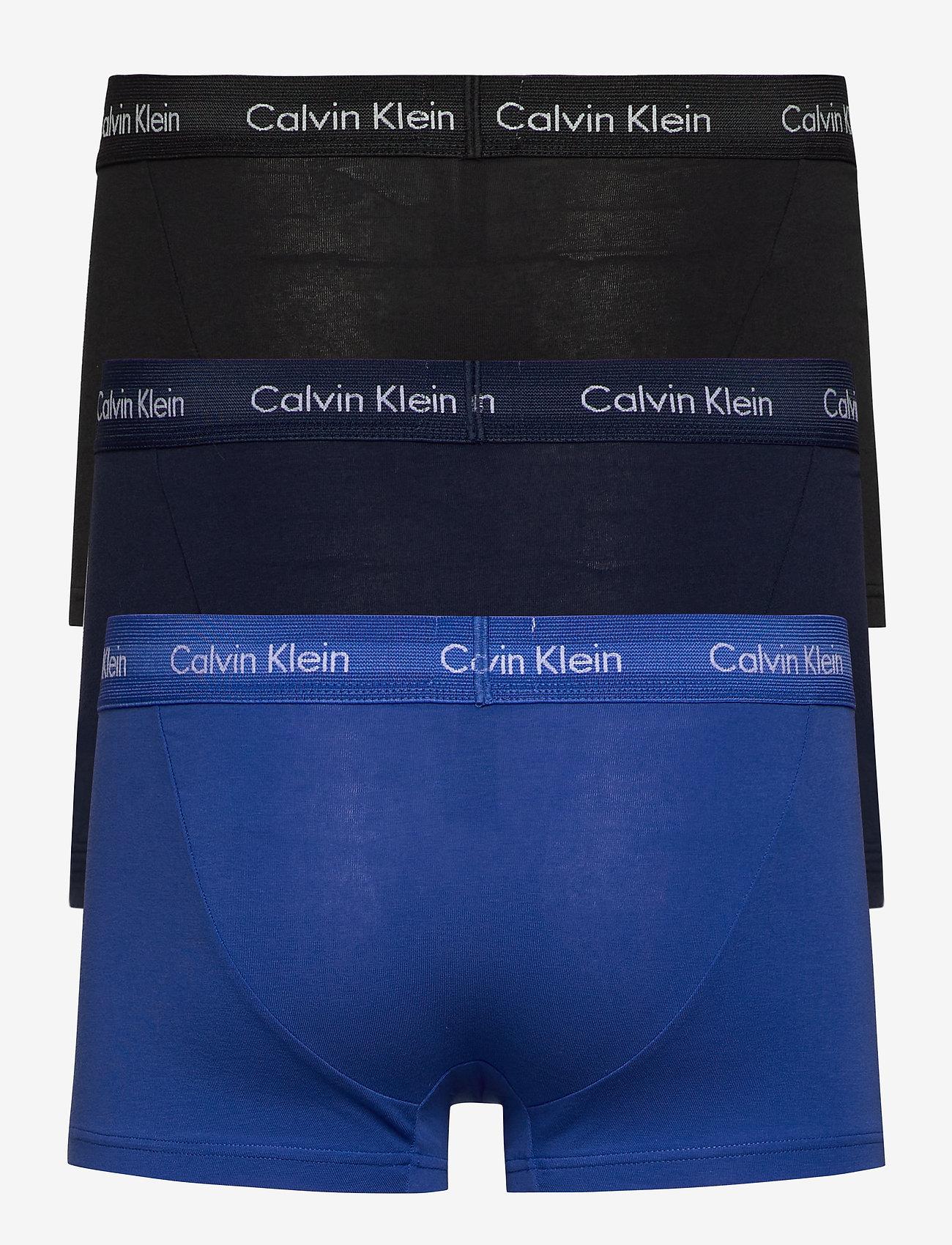 Calvin Klein - 3P LOW RISE TRUNK - boxers - black/blueshadow/cobaltwater dtm wb - 1