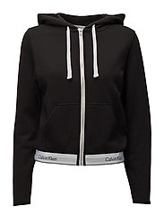 TOP HOODIE FULL ZIP - BLACK