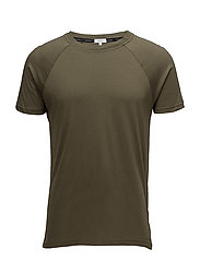 RELAXED CREW TEE - OLIVE NIGHT
