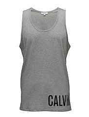 RACER TANK - GREY HEATHER
