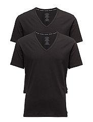 Calvin Klein 2P S/S V NECK - BLACK