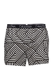 SKINNY FIT BOXER - REFLECTIVE LINES BLACK