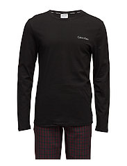 PJ PANT W L/S CREW - WILL PLAID BLACK / BLACK