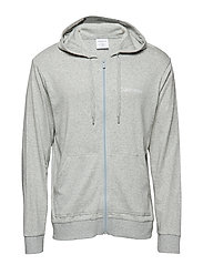 Calvin Klein FULL ZIP SWEATSHIRT - GREY HEATHER