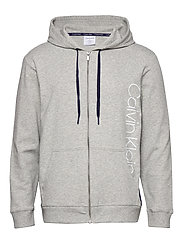 FULL ZIP HOODIE - GREY HEATHER W/ HOROSCOPE PIEC