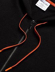 Calvin Klein - FULL ZIP HOODIE - basic sweatshirts - black w/ inferno piecing - 4