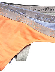 Calvin Klein - THONG 3PK - stringi - grey heather/pale blue/flambe - 1